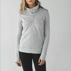 Lululemon in a cinch sweatshirt